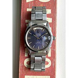 Vintage Tudor Oyster Prince Dateday Quickset Sunburst Blue (Purplish) Dial Watch