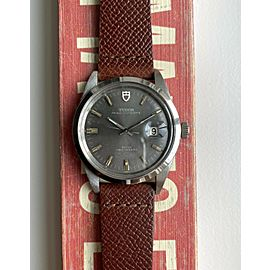 Vintage Tudor Oysterdate 38mm Jumbo Grey Dial w/ Card and Service Papers Watch