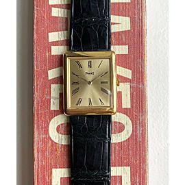 Piaget Tank Vintage Ref 9150 Manual Wind 18K Yellow Gold Roman Numerals Watch