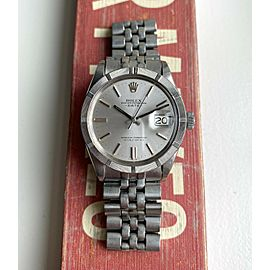 Vintage Rolex Oyster Perpetual Date 1501 Automatic Silver Dial Steel Case Watch
