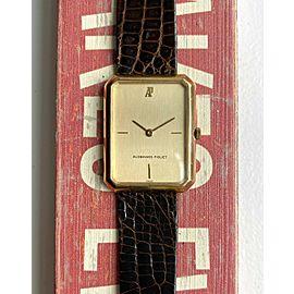 Vintage Audemars Piguet 18K Yellow Gold Tank Manual Wind Champagne Dial Watch