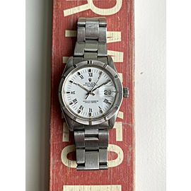 Vintage Rolex 1501 Oyster Perpetual Date Automatic White Roman Dial Watch