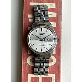 Vintage Longines Admiral 5 Star Automatic Silver Dial Daydate w/ Bracelet Watch