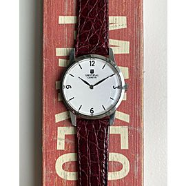 Vintage Universal Geneve Manual Wind White Arabic Numeral Dial Steel Case Watch