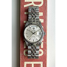Tudor Oyster Prince Dateday 94710 Automatic Silver Dial Double Quickset Watch