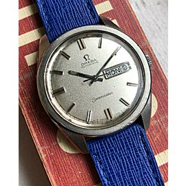 Vintage Omega Seamaster Jumbo Automatic Daydate Textured Dial Steel Watch