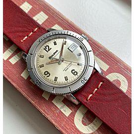 Vintage Bulova Snorkel 666 Devil Diver Automatic White Patina Dial Steel Watch