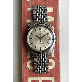 Vintage Omega Seamaster Chronometer Automatic Silver Dial w/ BOR Bracelet Watch