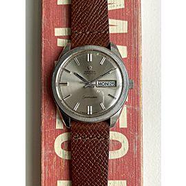 Vintage Omega Seamaster Jumbo Automatic Daydate Silver Sunburst Dial Steel Watch