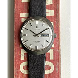 Vintage Omega Seamaster Cosmic Automatic Daydate Silver Pebble Dial Steel Watch