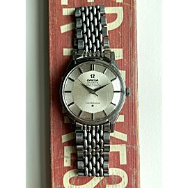 Vintage Omega Constellation Chronometer 60s Automatic Silver Pie Pan Dial Watch