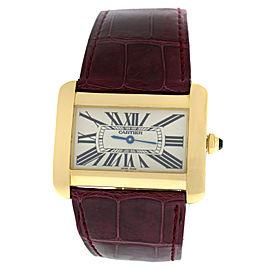 Cartier Divan 2602 Unisex Large 18K Rose Gold Quartz 38MM Watch