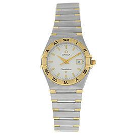 Omega Constellation 796.1201 Half Bar 18K Yellow Gold 27MM Quartz Watch