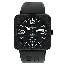 Bell & Ross Aviation BRS-98-PBMC Men Midsize Ceramic Steel Quartz 39MM Watch