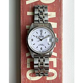 "Tudor Prince Date Automatic White ""Explorer"" Dial Boy Size 32mm Quickset Watch"