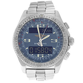 Breitling B-11 A68362 Chronograph Mens Stainless Steel Quartz 43MM Watch