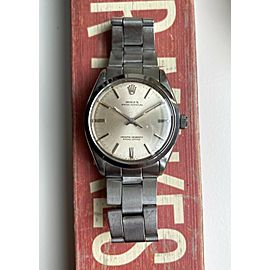Vintage Rolex Oyster Perpetual 1002 Automatic Silver Dial Oyster Case Watch