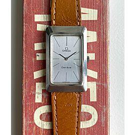 Vintage Omega Geneve Tank 60s Manual Wind Silver Dial Steel Case Watch
