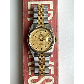 Tudor Oyster Prince Dateday Quickset Linen Dial Two Tone Jubilee Bracelet Watch