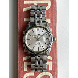 Vintage Tudor Prince Oysterdate Automatic Ref 75204 Silver Dial Quickset Watch
