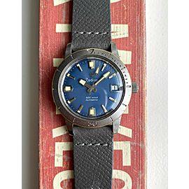 Vintage Zodiac Sea Wolf Rare 50s Automatic Blue Dial Diver Steel Case Watch