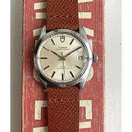Vintage Rolex Prince Oysterdate Ref 9050/0 Automatic Silver Dial Quickset Watch
