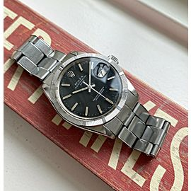 Vintage Rolex Oyster Perpetual Date 1501 Automatic Black Dial Watch Serviced