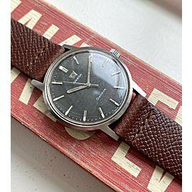"Vintage Omega Geneve Manual Wind Rare Grey ""Mosaic"" Dial Steel Case Watch"