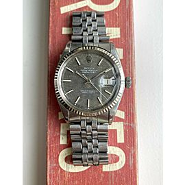"""Vintage Rolex Datejust 1601 Automatic Rare Brown """"Mosaic"""" Patina Dial Watch"""