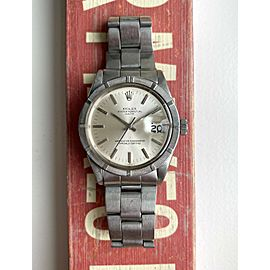 Vintage Rolex Oyster Perpetual Date 1501 Automatic Silver Dial w/ Bracelet Watch