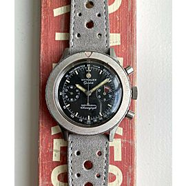 Vintage Wittnauer Professional Chronograph 7004A Manual Wind Black Dial Watch