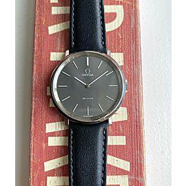Vintage Omega De Ville Manual Wind Matte Grey Dial Steel Case Dress Watch