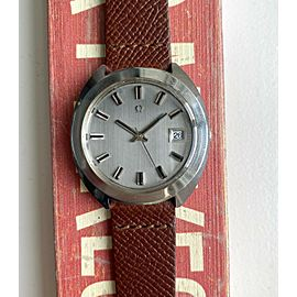 """Vintage Omega Geneve Automatic Ref. ST166.721 Grey Dial """"Mirror"""" Crystal Watch"""