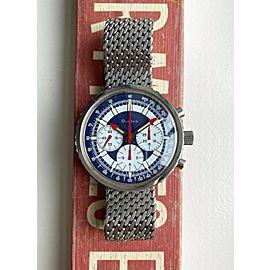 "Vintage Bulova Chronograph Manual Wind ""Stars & Stripes"" Dial Valjoux 7736 Watch"