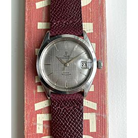 Vintage Tudor Prince Oysterdate Ref 7996 60s Automatic Silver Linen Dial watch