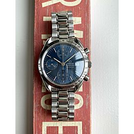Omega Speedmaster Date Ref. 3511.80 Automatic Chronograph Blue Dial Steel Watch