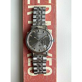 Vintage Longines Ultra Chron 70s Automatic Grey Dial Cal. 431 Steel Watch