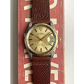 Vintage Tudor Prince Oysterdate Automatic Champagne Dial Quickset Two Tone Watch