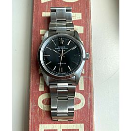 Rolex Air-King Oyster Perpetual Black Glossy Dial Automatic Ref 14000 w/ Box