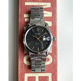 Vintage Rolex Oysterdate Precision 6694 Manual Wind Matte Black Dial Watch