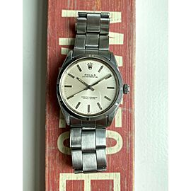 Oyster Perpetual 1003 Vintage Automatic Silver Sunburst Dial Oyster Case Watch