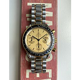 Omega Speedmaster 175.0032 Automatic Chronograph Two Tone Champagne Dial Watch