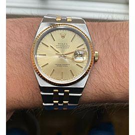 Vintage Rolex Datejust Oysterquartz 80s Quartz Two Tone 18K Yellow Gold Watch