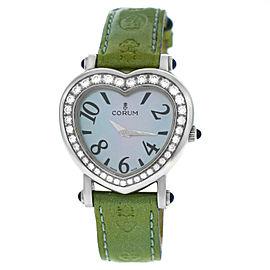 Corum Heart 24.183.20 Ladies Stainless Steel Diamonds MOP Quartz 30MM Watch