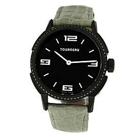 Tourneau TNY Roventa TNY350709011 Unisex PVD Steel Diamonds 35MM Quartz Watch