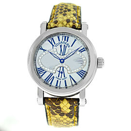 Tourneau Gotham Metro Ladies Diamonds MOP Steel Automatic 35MM Watch
