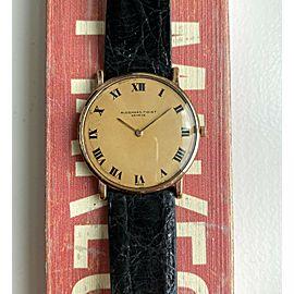 Vintage Audemars Piguet 60s 18K Yellow Gold Manual Wind Roman Numeral Dial Watch