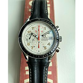 Omega Speedmaster Mark 40 Automatic Chronograph White Dial Quickset Date w/ Card