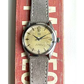 Vintage Tudor Oyster 1961 Ref 7934 Manual Wind Silver Patina Rose Dial Watch
