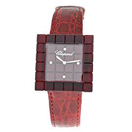 Chopard Ice Cube Be Mad 12/7780 Ladies Diamond Steel Red Resin Quartz 31MM Watch